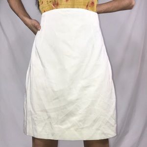 Dresses & Skirts - Women's White mid knee skirt